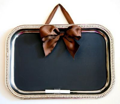 silver tray chalboards