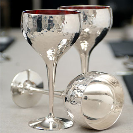 silver wine goblets (set of 8)
