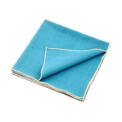 vintage teal linen napkins (set of 8)