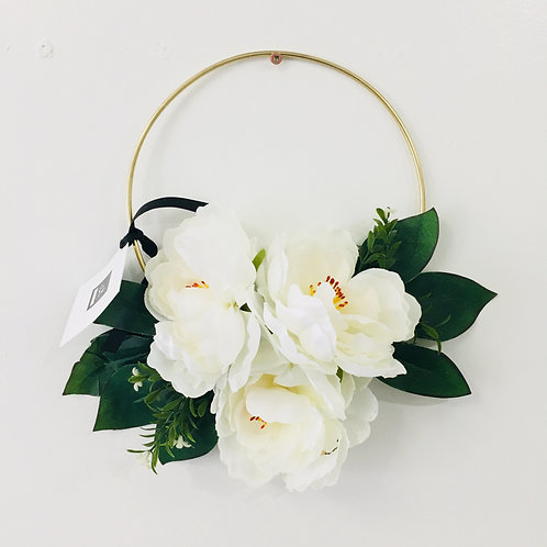 Small Handmade Wreath- White