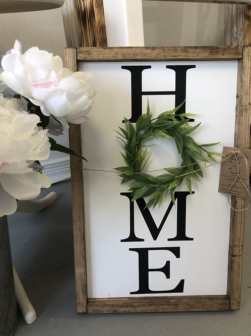 HOME Handmade Wooden Sign