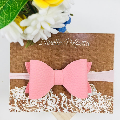 Bow Hairband - Pink with Pink Band