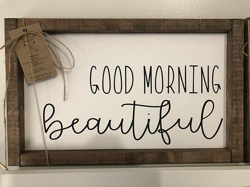 """Handsome"" & ""Beautiful"" Handmade Wooden Sign"
