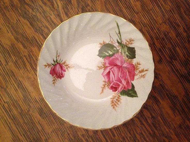 vintage rose plates