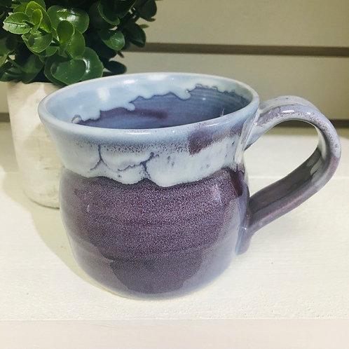 Ceramic Pottery Mug Locally Handmade-Purple Spalsh