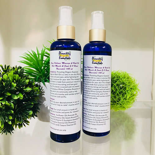 Body Wellness Massage and Bath Oil