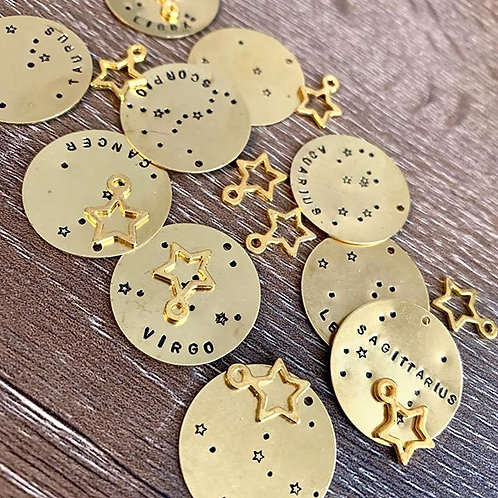 2 Stars in the Sky Zodiac Necklaces