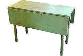 vintage green leaf table