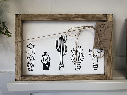 Cacti Handmade Wooden Sign