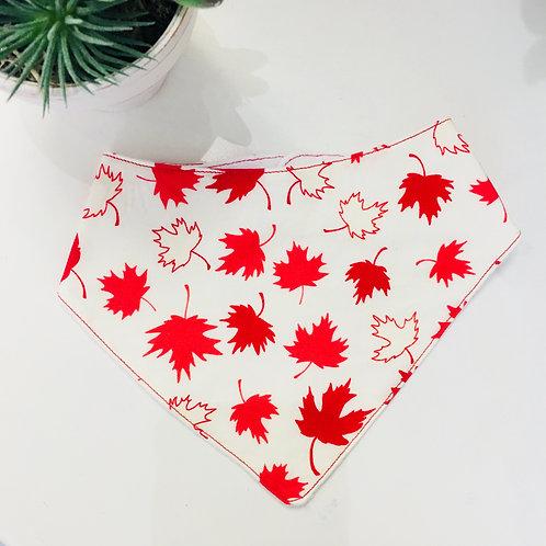 Boozoo Bandanna Baby Bib- Maple Leaf