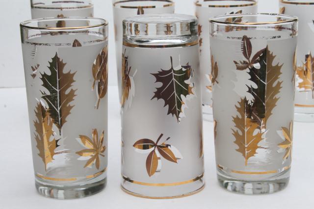 vintage Libbey glass Golden Foliage (set of 6)