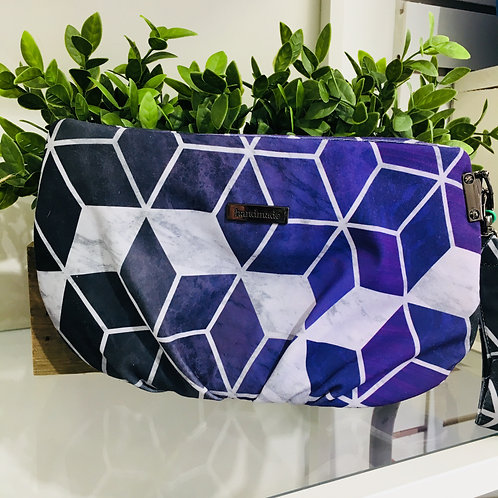 Handmade Clutches - Purple/Black Pattern
