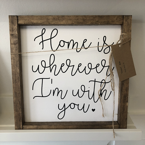 """Home..."" Handmade Wooden Sign"