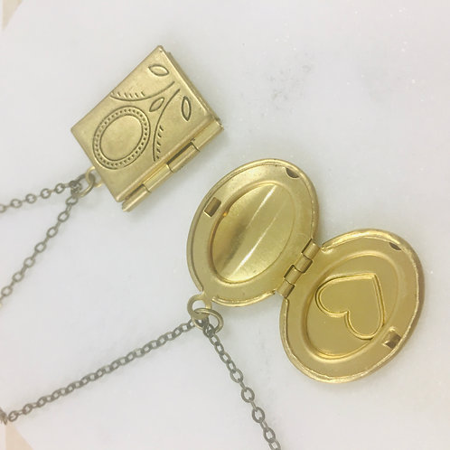 Brass Medium Sized Locket