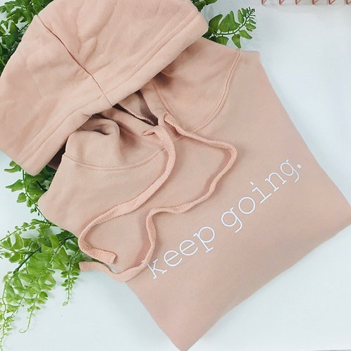 Crop Hoodie -Keep Going