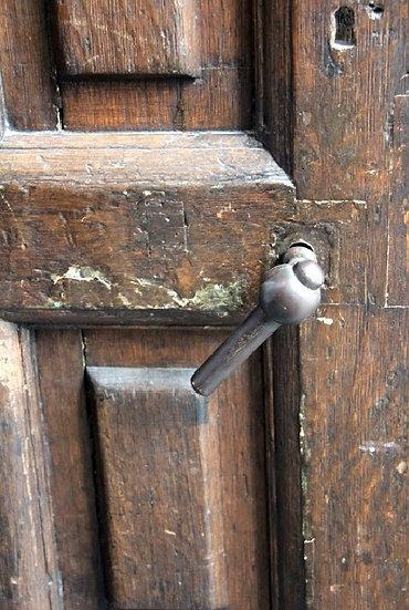Hans Backer- Old Door in Amsterdam