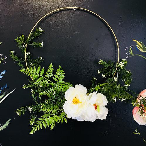 Large Handmade Wreath- White