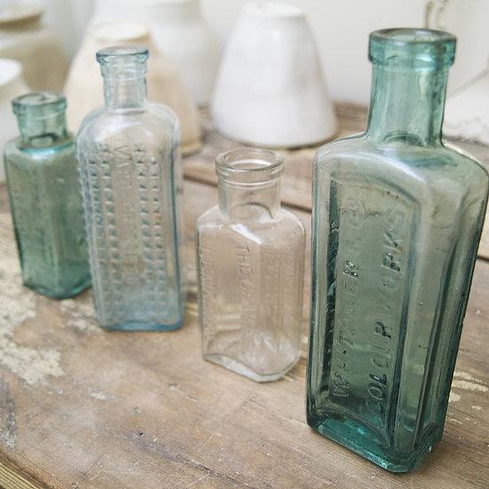 medium vintage glass bottles