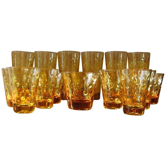 anchor hocking amber glasses (x24)