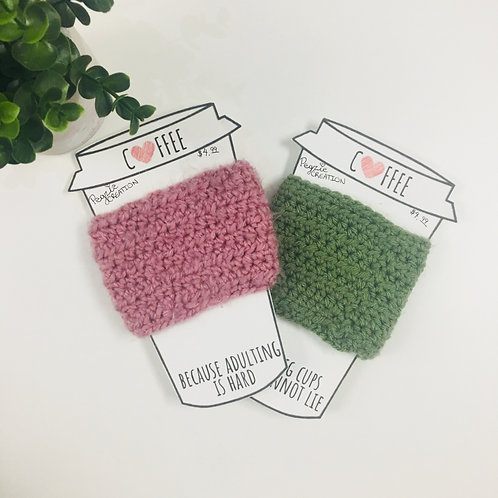 Solid Coloured Cup Cozies
