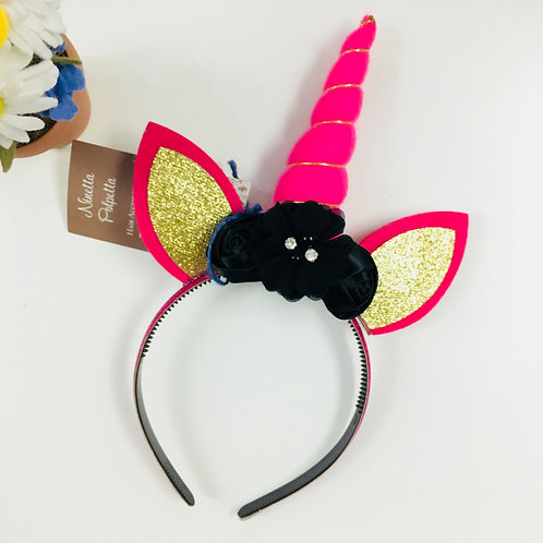 Unicorn Headband - Pink Horn