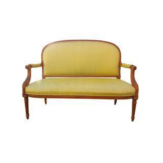 yellow french louis XVI settee