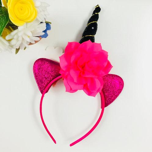 Unicorn Headband - Black Horn