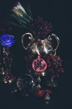 vintage brass urn