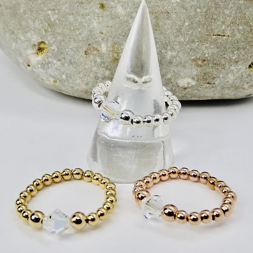 Sterling Silver | Gold & Rosegold Filled |Stretch RING