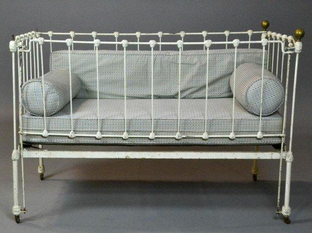 vintage iron baby crib