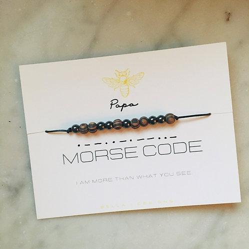 """Morse Code Bracelet """"Papa"""""""
