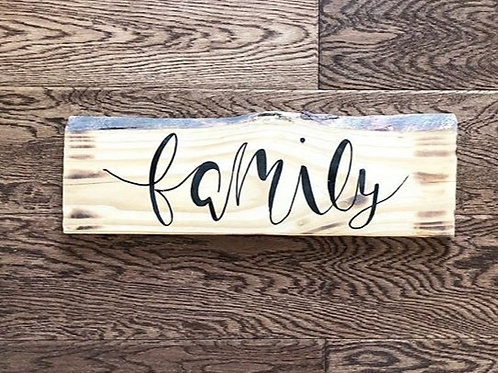 Hand-painted Family Wood Sign