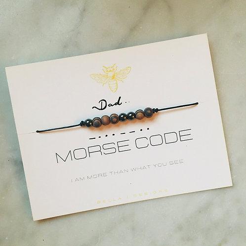 """Morse Code Bracelet """"DAD"""""""