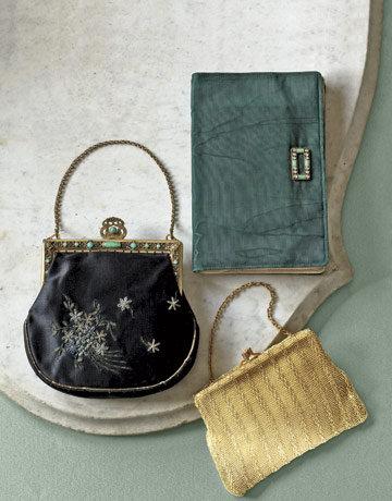 variety of vintage handbags