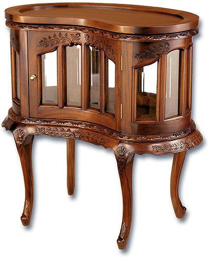 mahogony finish curio cabinet