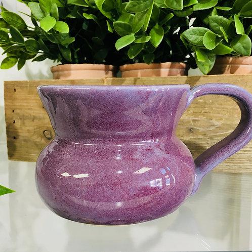 Ceramic Pottery Mug Locally Handmade- Purple