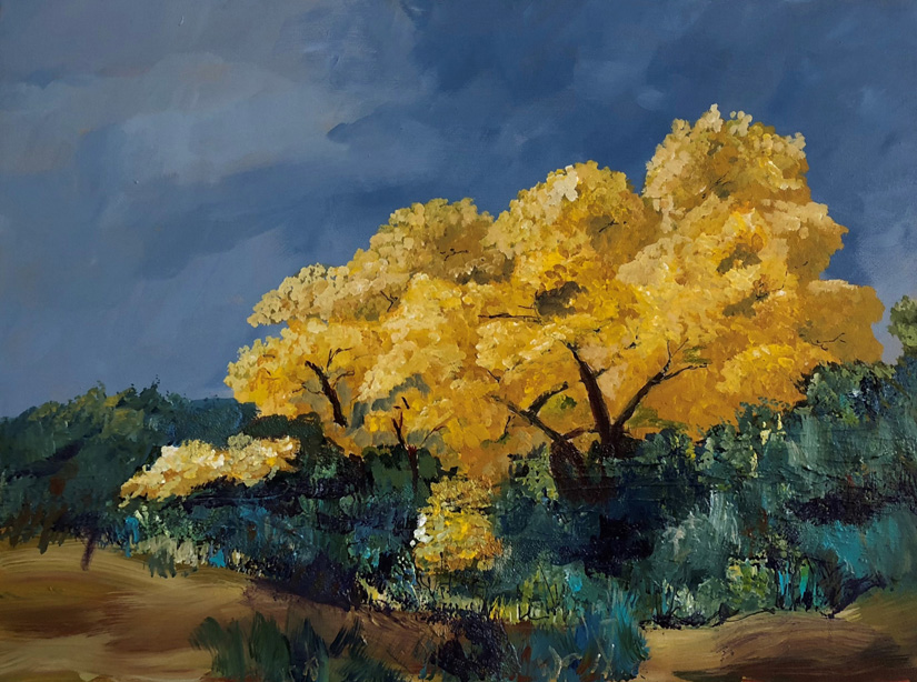 Cottonwood in Fall Colors