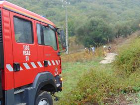 Despiste faz um ferido grave na estrada da Calhandriz