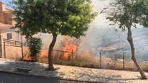 Incêndio em mato alarmou moradores de A-dos-Bispos