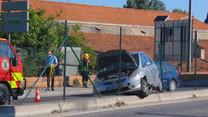 Acidente aparatoso entope entrada de Vila Franca