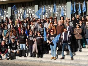 Funcionários judiciais protestam em Vila Franca