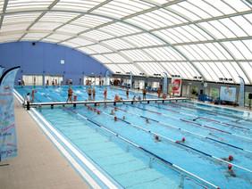 Tempestade levou parte da cobertura das piscinas