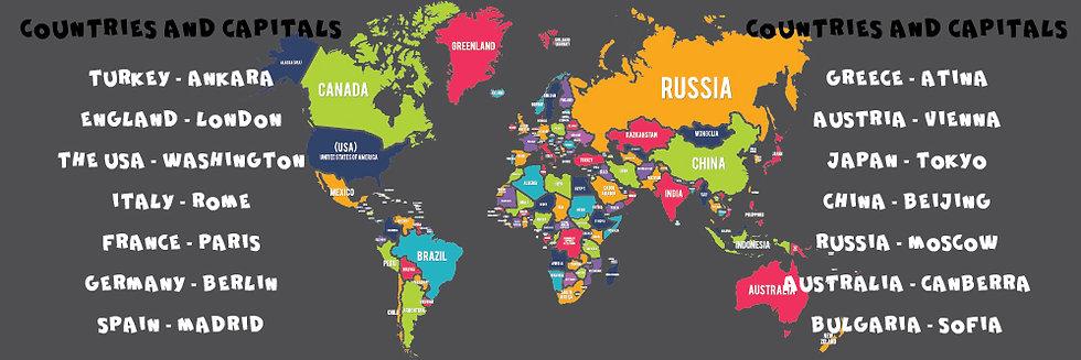 Dünya Haritası ve Başkentler