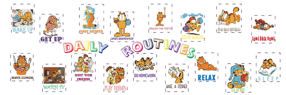 Daily Routines Garfield