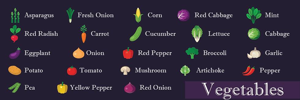 Sebzeler - Vegetables