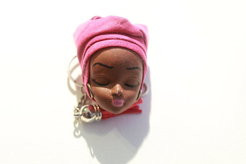 Pink headwrap