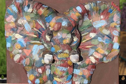 Colorful elephant sculpture
