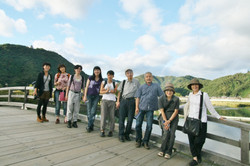 錦帯橋で記念撮影