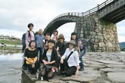 錦帯橋にて記念撮影