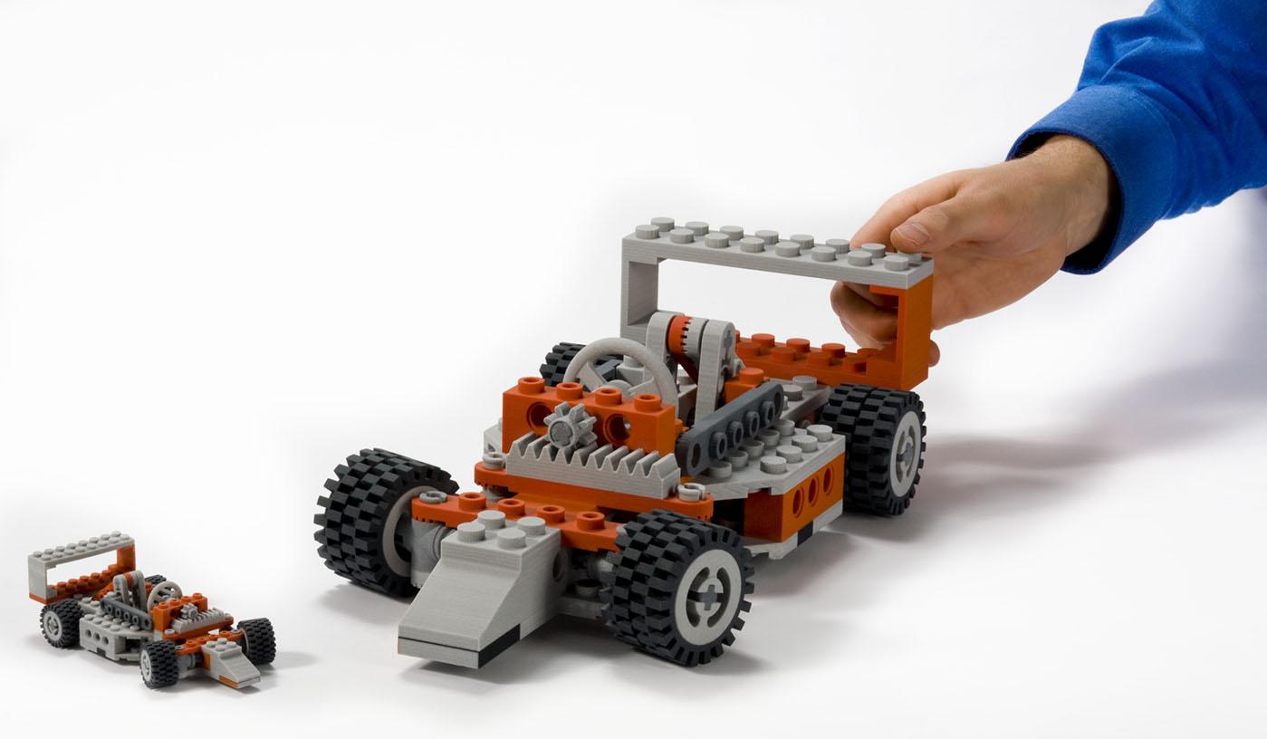 Colorjet 3D Printed Car